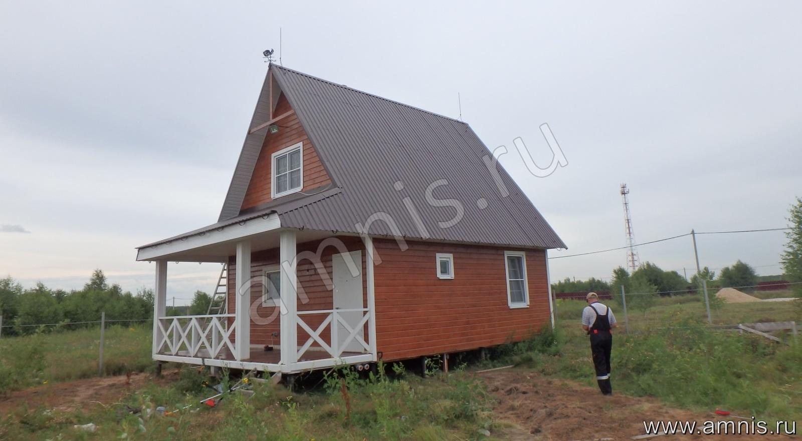 Загородный жилой дом с молниезащитой
